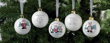 personalised christmas decorations personalised christmas baubles