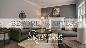 Living Room Staging Before And After Home Staging Staged For Upsell Youtube
