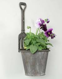 Metal Wall Planter by Rustic Look Cast Iron U0026 Metal Garden Fork Wall Planter