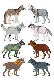 wolf design auction closed by mistywren on deviantart