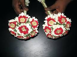 Flower Garland Indian Wedding Indian Wedding Flower Bouquets Flower Garland In Wedding Stock