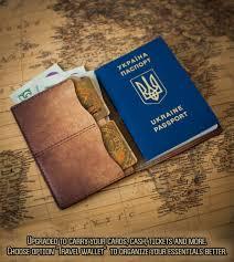 Passport wallet travel wallet travel gift leather passport