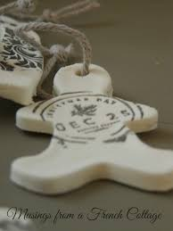 musings from a cottage clay ornaments or gift tags