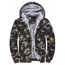 camouflage color hooded camouflage zip up fleece hoodie 4xl 36 15