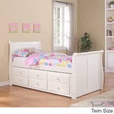 White Sleigh Bed Donco Kids White Sleigh Bed With Trundle Free Shipping Today