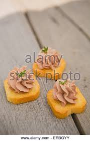 pate canapes delicious pate canapes on wooden background selective focus