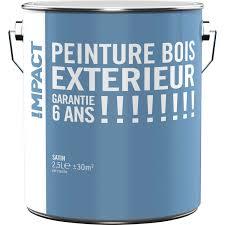 leroy merlin le exterieur peinture bois extérieur impact blanc 2 5 l leroy merlin