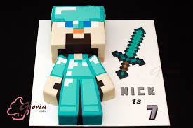 diamond steve steve with diamond armor gloria cake