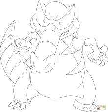 krookodile pokemon coloring page free printable coloring pages