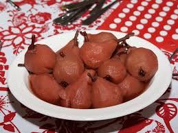 vin cuisine poires au vin recipe pears poached in wine