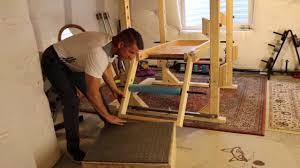 diy power rack leg extension youtube
