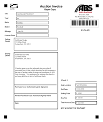 Car Wash Invoice Template by Auto Buyline Systems Abs