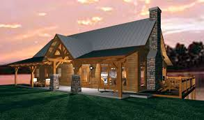 cottage open floor plans an open concept timber frame design for a family cabin