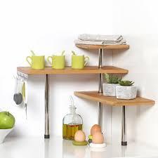 étagère à poser cuisine secret de gourmet etagère d angle en bambou et inox cuisine