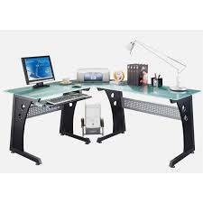 Techni Mobili Desk Assembly Instructions by Techni Mobili Rta 3803 Gph06 L Shaped Glass Computer Desk In