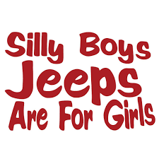jeep sticker ideas amazon com silly boys jeeps are for girls vinyl decal sticker