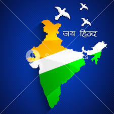 Flag If India Republic Of India Map In Indian Flag Color Royalty Free Stock