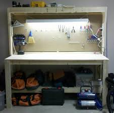 workbench with pegboard and light workbench with light plans penitent28ikx
