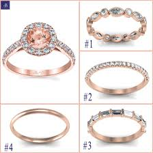 wedding band types types of gold wedding bands for a morganite halo engagement