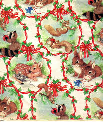 vintage christmas paper christmas gift wrapping paper vintage gift wrap with all the