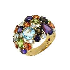 colored rings images Roberto coin shanghai multi colored stone brown diamond ring jpg