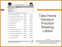 reading food labels worksheet invs info