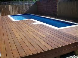 l shaped above ground pool with hardwood deck idea of 13 ideas of