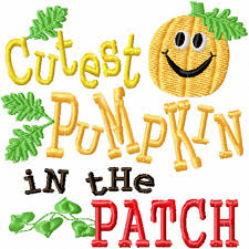 cutest pumpkin in the patch a machine embroidery design for