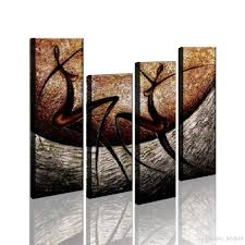 modern artwork abstract painting wall art decor happy dancing