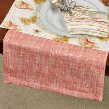 cheap coral table runners melange coral table linens