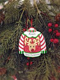 ugly sweater personalized christmas ornament ugly christmas