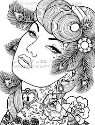 Digital Download Print Your Own Coloring Book Outline Page Pin Up Coloring Pages