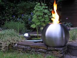Outdoor Metal Fireplaces - outdoor living cool contemporary modern metal outdoor fireplace