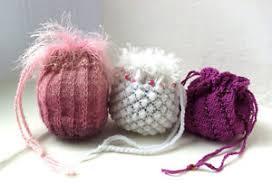 Wedding Gift Knitting Patterns Knitting Pattern For Trio Of Keepsake Bags Gifts Jewellery