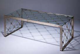 wrought iron coffee table with glass top wrought iron net coffee table in distressed silver leaf finish with