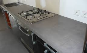 béton ciré pour plan de travail cuisine en photo