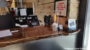 Restaurant Reception Desk Custom Live Edge Furniture Teraprom Land Company