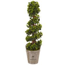 nearly natural indoor outdoor english ivy artificial tree in