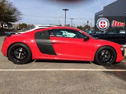 audi r8 matte black stunning red audi r8 v10 on hre p101 u0027s