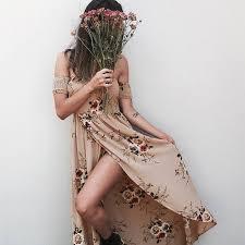 summer dresses boho style dress women shoulder summer dresses