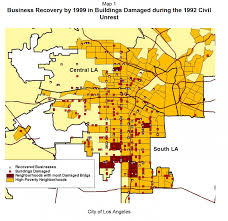 City Of Los Angeles District Map by Economic Roundtable South Los Angeles Rising