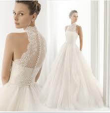 halter neck wedding dresses 2015 new arrival yarn turtleneck halter neck lace wedding