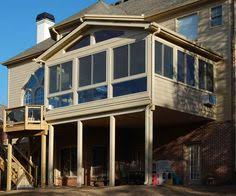 we built this sunroom over an existing deck then we added some