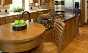 kitchen table and island combinations minimalist varnished wooden