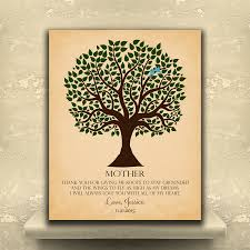 pesonalized gift for mom on mother u0027s day or birthday family tree