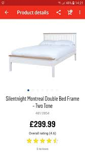 Bed Frames Montreal Silentnight Montreal Bed Frame Two Tone In Whitehaven