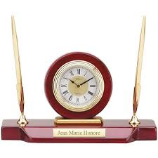 desk clock desk clock with double pen stand