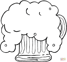 cartoon beer black and white fresh beer for oktoberfest coloring page free printable coloring