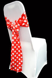 chair sashes high quality satin polka dot chair sashes