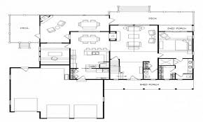 simple cabin floor plans floor plan custom basement than one porch plans designers simple